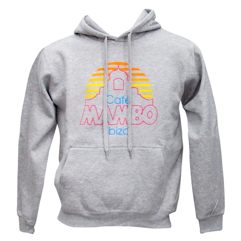 Cafe Mambo Ibiza Logo Athletic Grey Hoodie