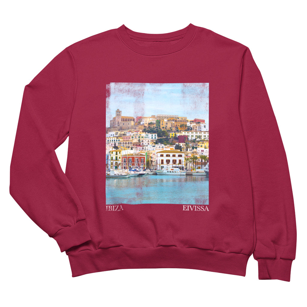 Ville d'Ibiza Impression de photo Sweatshirt Femme