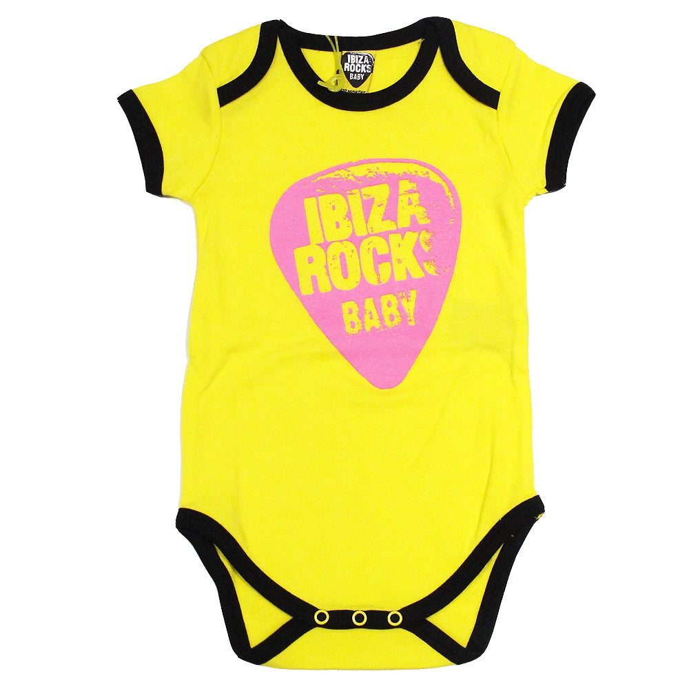Ibiza Rocks Neon Plectrum Baby Grow