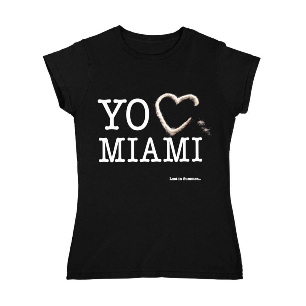 Love Mia Women's Black T-Shirt