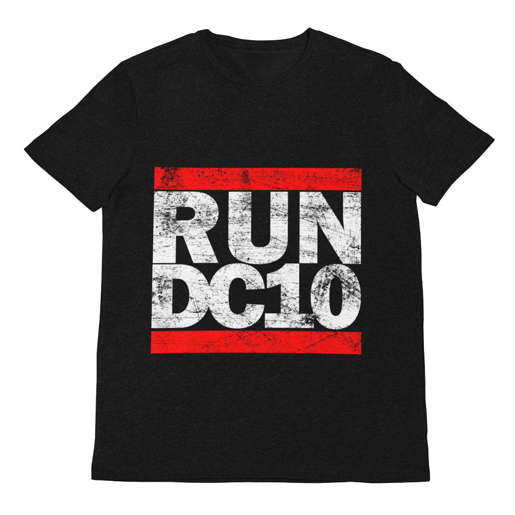 Run DC10 Men's Black T-shirt