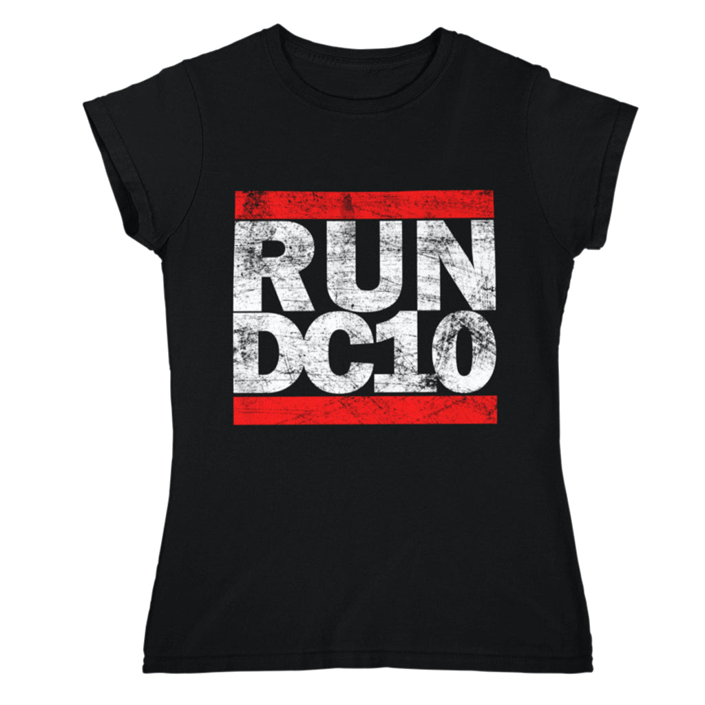 Run DC10 Women's Black T-shirt