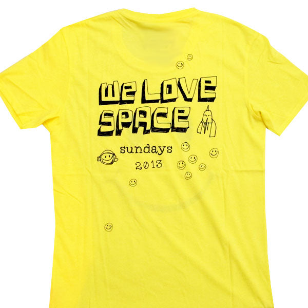 We Love Space Smiley Face Yellow 2013