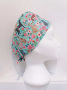 Floral Greyhound Scrub Hat