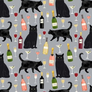 Black Cats and Wine Scrub Hat