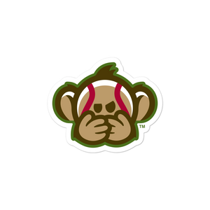 Tri-City Wise Monkeys Speak No Evil bubble-free sticker