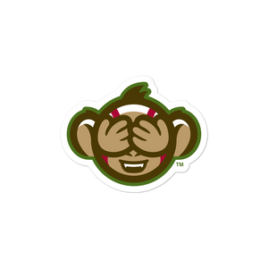 Tri-City Wise Monkeys See No Evil bubble-free sticker