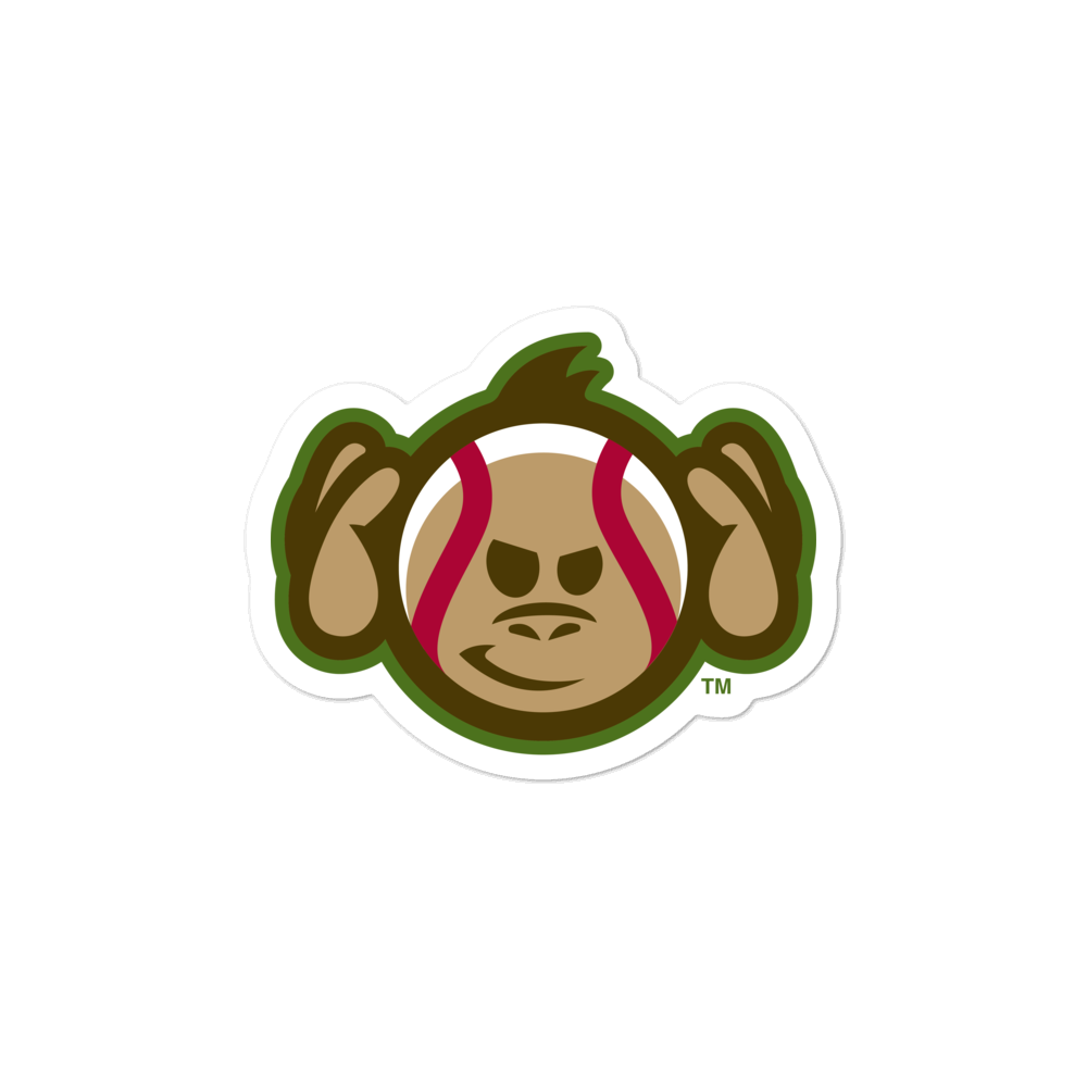 Tri-City Wise Monkeys Hear No Evil bubble-free sticker