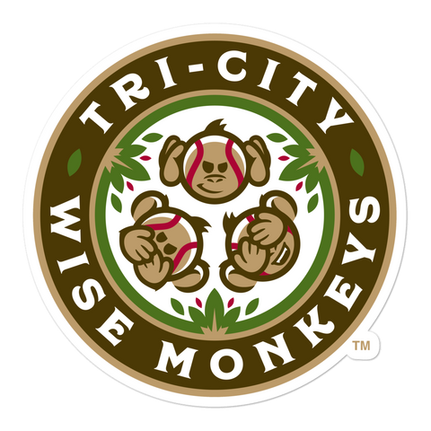 Tri-City Wise Monkeys bubble-free sticker
