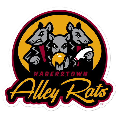 Hagerstown Alley Rats bubble-free sticker