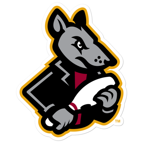 Hagerstown Alley Rats Right Rat Mascot bubble-free sticker
