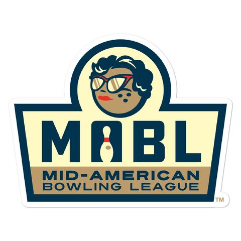 MABL Bowling Badge bubble-free sticker