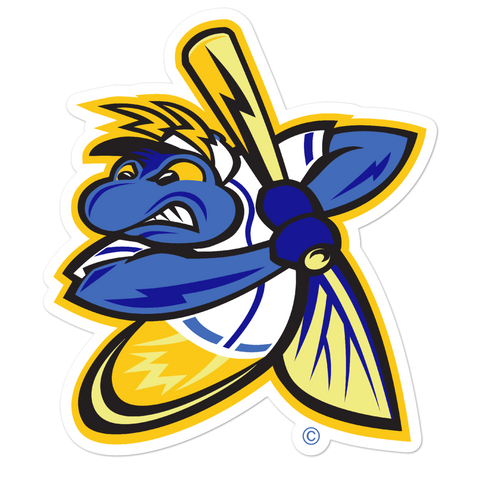 Springfield Fireflies Mascot bubble-free sticker