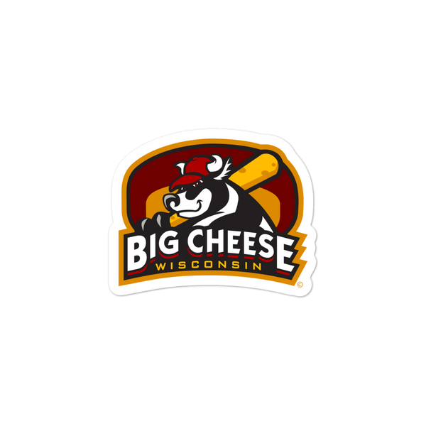 Wisconsin Big Cheese bubble-free sticker