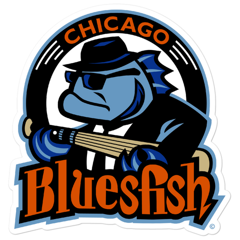 Chicago Bluesfish bubble-free sticker
