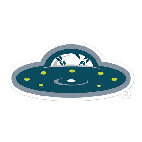 New York Invaders Flying Saucer bubble-free sticker