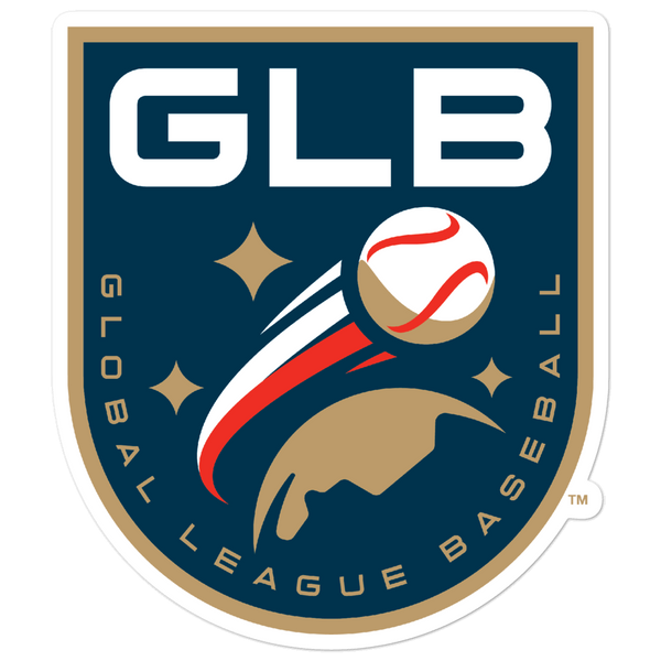 Global League Baseball Shield bubble-free sticker