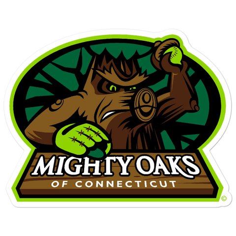 Mighty Oaks of Connecticut bubble-free sticker