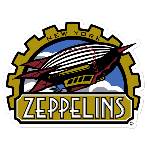 New York Zeppelins bubble-free sticker