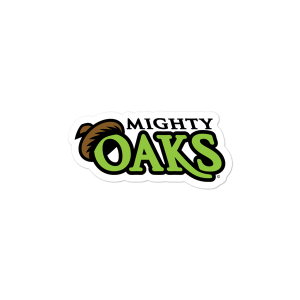 Mighty Oaks of Connecticut Wordmark bubble-free sticker