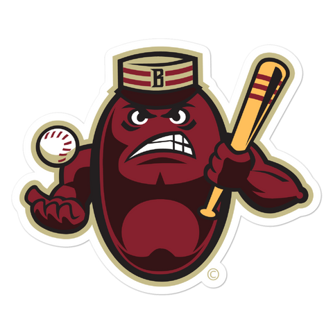 Boston Mean Beans Mascot bubble-free sticker