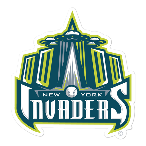 New York Invaders bubble-free sticker