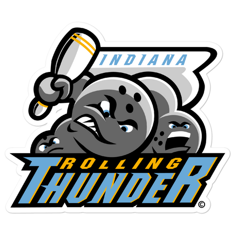 Indiana Rolling Thunder bubble-free sticker