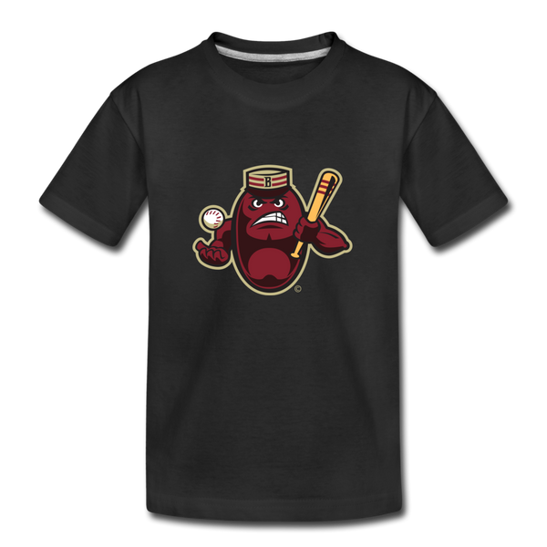 Boston Mean Beans Mascot Kids' Premium T-Shirt - black