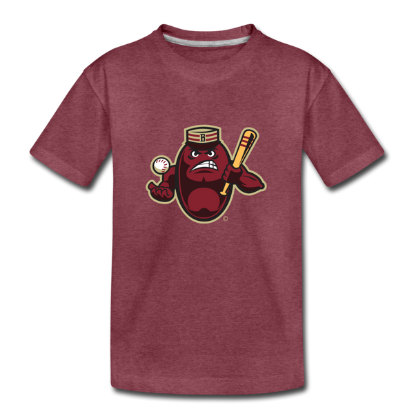 Boston Mean Beans Mascot Kids' Premium T-Shirt - heather burgundy