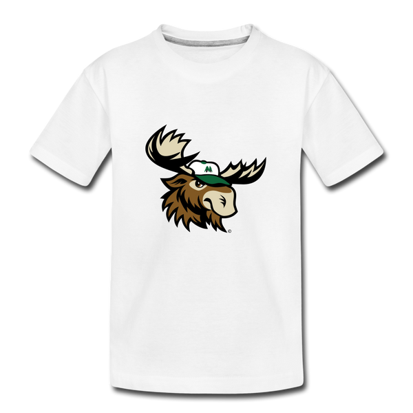 Minnesota Big Lumber Moose Mascot Kids' Premium T-Shirt - white