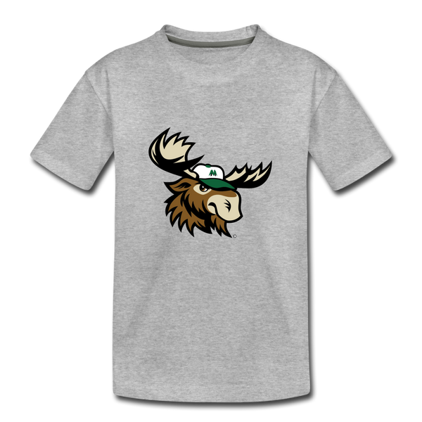 Minnesota Big Lumber Moose Mascot Kids' Premium T-Shirt - heather gray