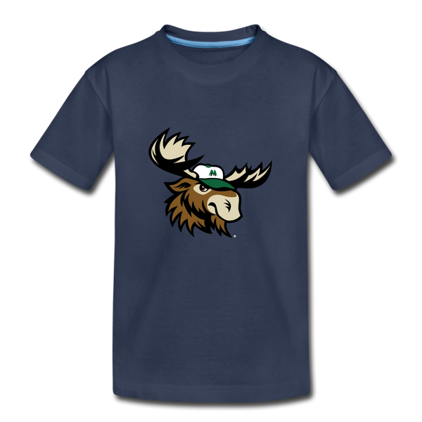 Minnesota Big Lumber Moose Mascot Kids' Premium T-Shirt - navy