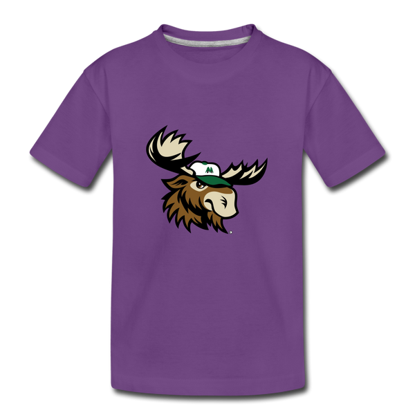 Minnesota Big Lumber Moose Mascot Kids' Premium T-Shirt - purple
