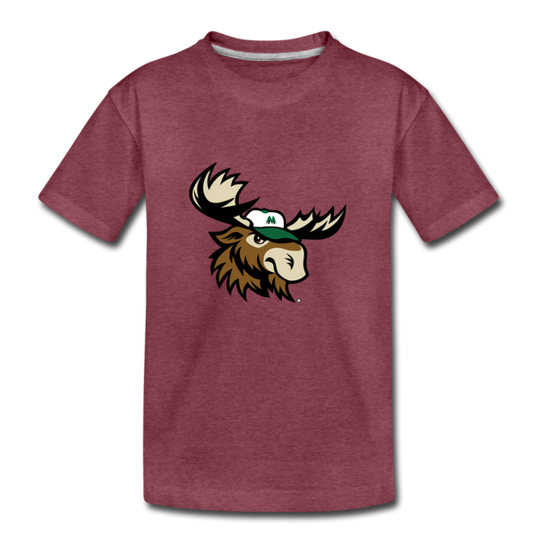 Minnesota Big Lumber Moose Mascot Kids' Premium T-Shirt - heather burgundy