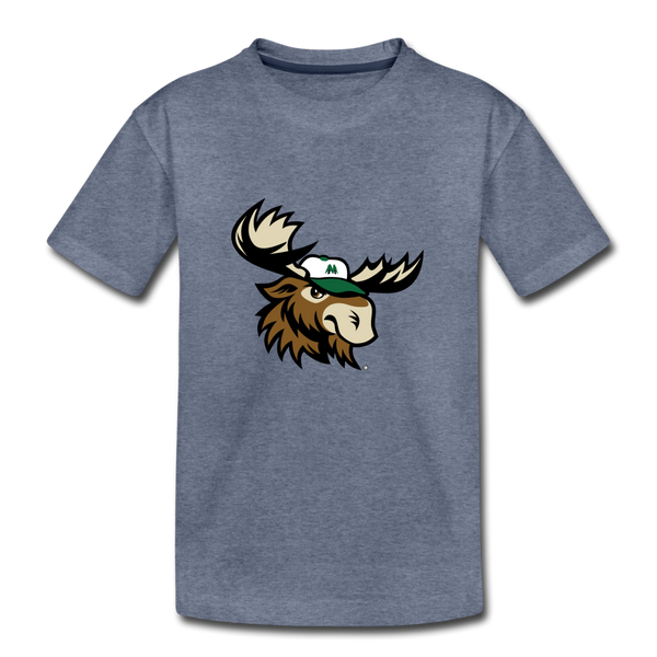 Minnesota Big Lumber Moose Mascot Kids' Premium T-Shirt - heather blue