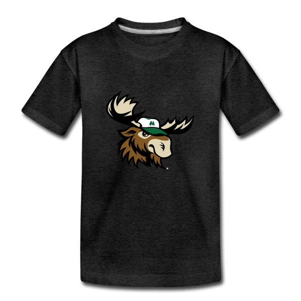 Minnesota Big Lumber Moose Mascot Kids' Premium T-Shirt - charcoal gray