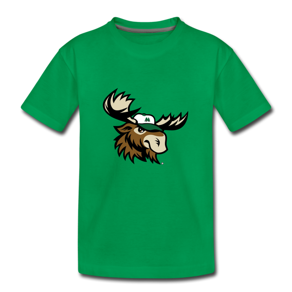Minnesota Big Lumber Moose Mascot Kids' Premium T-Shirt - kelly green