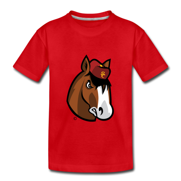 Scotland Clydes Clydesdale Mascot Kids' Premium T-Shirt - red