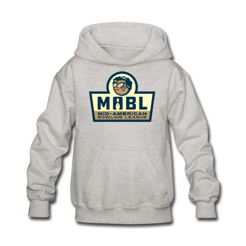 MABL Bowling Kids' Hoodie - heather gray