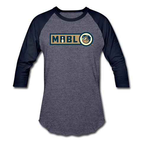 MABL Unisex Baseball T-Shirt (For Bowlers!) - heather blue/navy