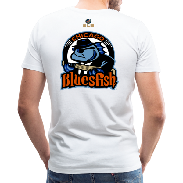Chicago Bluesfish Men's Premium T-Shirt - white