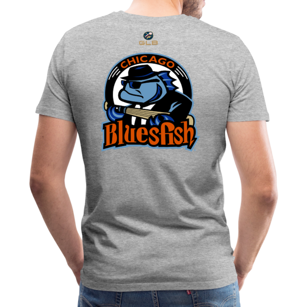Chicago Bluesfish Men's Premium T-Shirt - heather gray
