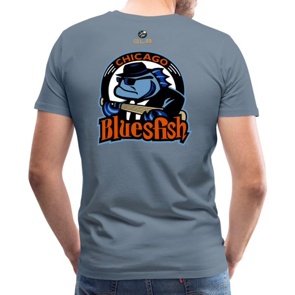Chicago Bluesfish Men's Premium T-Shirt - steel blue