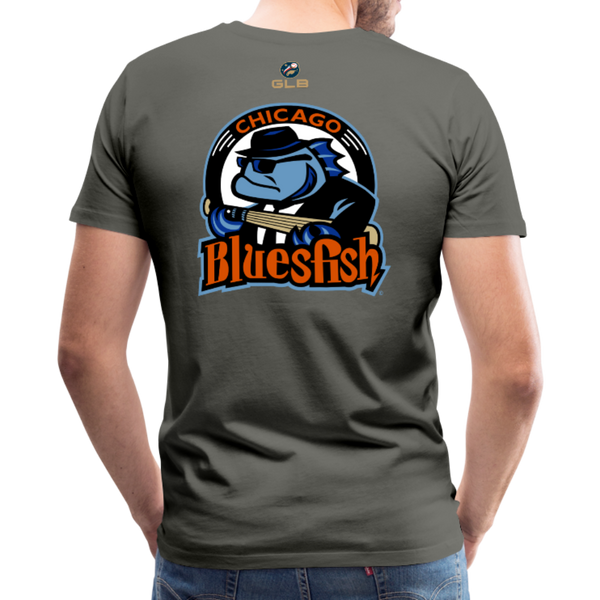 Chicago Bluesfish Men's Premium T-Shirt - asphalt gray