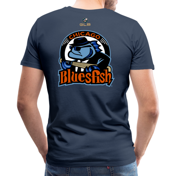 Chicago Bluesfish Men's Premium T-Shirt - navy