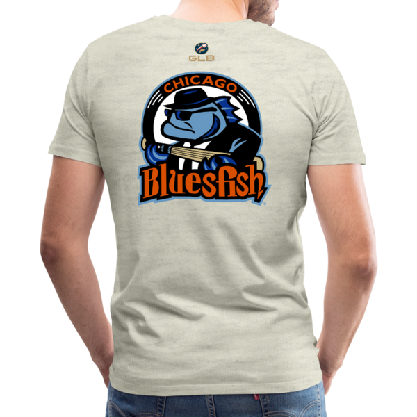 Chicago Bluesfish Men's Premium T-Shirt - heather oatmeal
