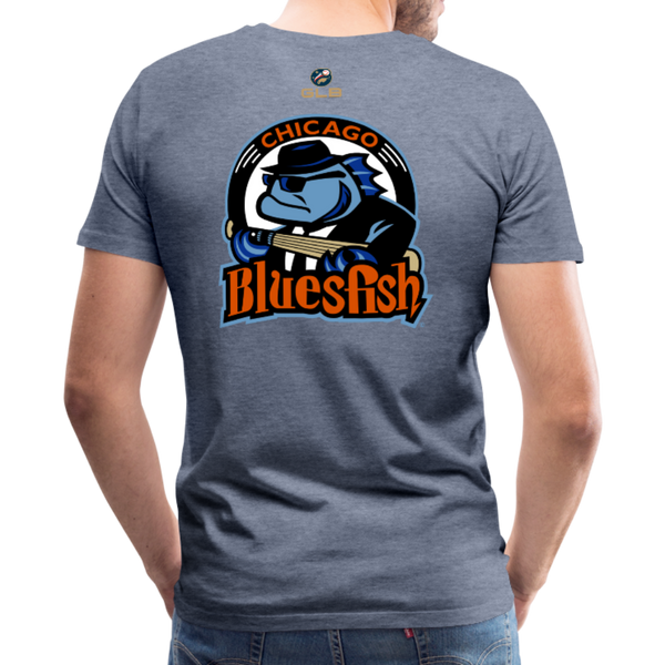 Chicago Bluesfish Men's Premium T-Shirt - heather blue