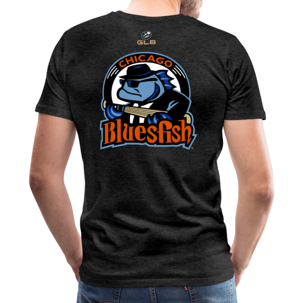 Chicago Bluesfish Men's Premium T-Shirt - charcoal gray