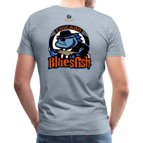Chicago Bluesfish Men's Premium T-Shirt - heather ice blue