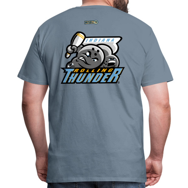 Indiana Rolling Thunder Men's Premium T-Shirt - steel blue